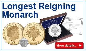 Longest Reigning Monarch Coins