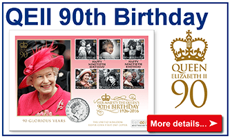 QEII 90th Stamps
