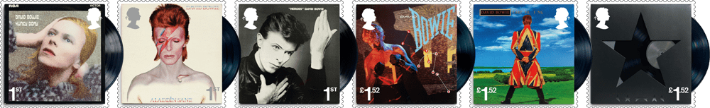 David Bowie Stamps Banner