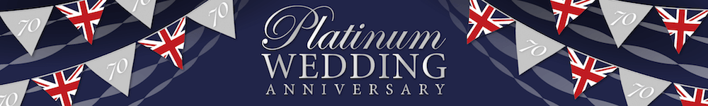 Platinum Wedding Anniversary Banner