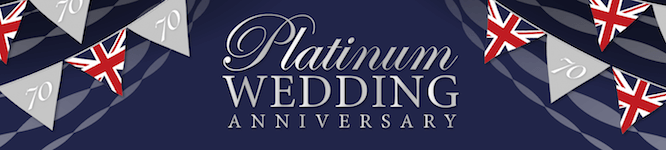 Platinum Wedding Anniversary Mobile Banner