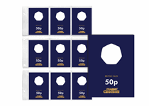1 Change Checker PVC page and 9 Premium Protective Collecting cards for British Isles 50ps. A great way to present/protect your coins for a lifetime. Collection page fits in a Change Checker Album.