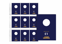 1 Change Checker PVC page and 9 Premium Protective Collecting cards for British Isles £1 coins. A great way to present/protect your coins for a lifetime. The page fits in a Change Checker Album.