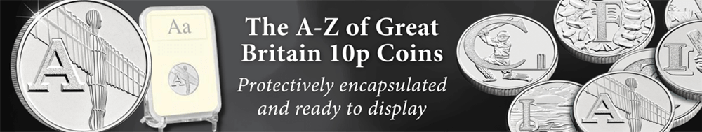 10p A-Z encapsulated large hp banner