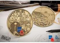 2018 marks 100 years since the Allies and Germany signed the armistice ending the First World War. Both the obverse and reverse of this commemorative feature designs inspired by five veterans.