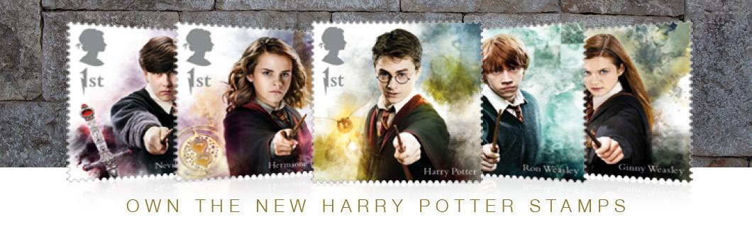 2018 Harry Potter Stamp Collection A3 Framed Landing Page Banner Desktop