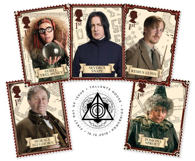 2018 Harry Potter Stamp Collection A3 Framed Landing Page Image Professors