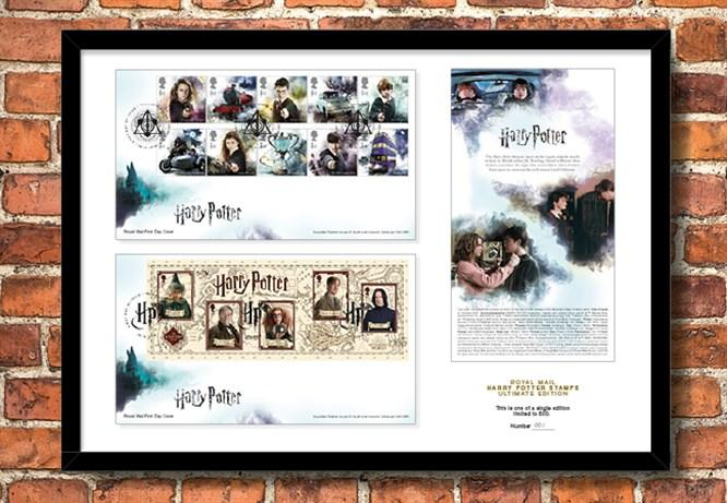 2018 Harry Potter Stamp Collection A3 Framed Landing Page Image