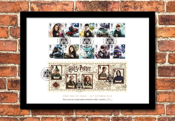 2018 Harry Potter Stamp Collection A4 Framed Landing Page Image