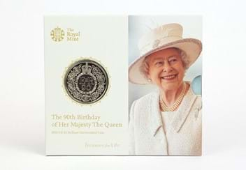 Uk 2016 Queens 90Th Birthday Cuni Bu Five Pound Coin In Royal Mint Pack1