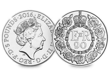 Uk 2016 Queens 90Th Birthday Cuni Bu Five Pound Coin In Royal Mint Pack6