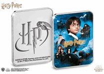 Struck to a proof finish, the Official Harry Potter Film Poster Silver-Plated Ingot has a full colour image of the Harry Potter and the Philosopher's Stone film poster and official Harry Potter Logo.