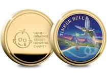 The Official Tinker Bell Commemorative features an illustration of Tinker bell. Reverse features the Great Ormond Street Hospital Charity logo 10% of every one sold will be donated to GOSH charity.