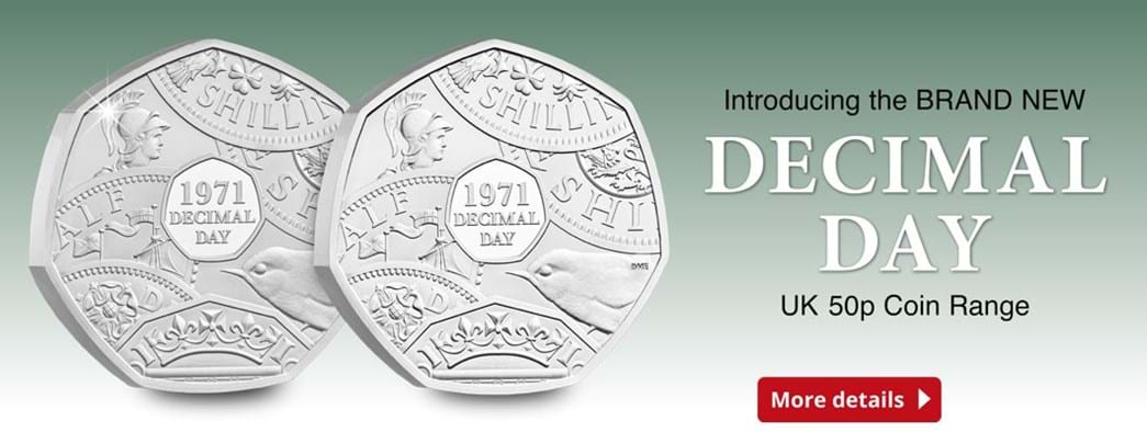 Introducing the Brand New Decimal Day UK 2021 50p Coin Range