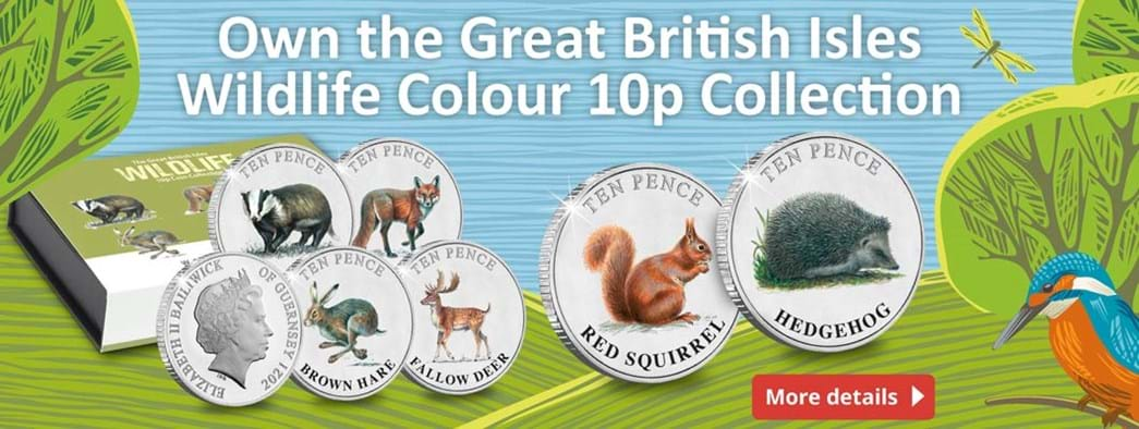 The Strictly Limited British Isles Wildlife 10p Colour Brilliant Uncirculated Pair