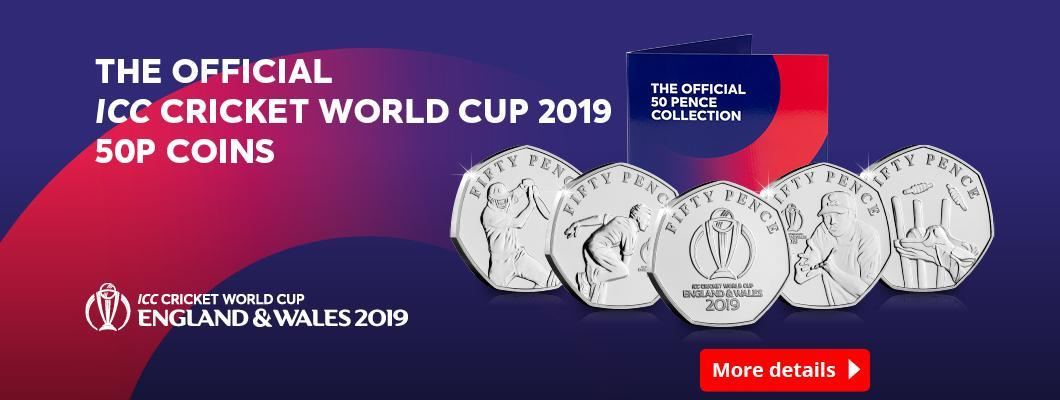The Brand New Official ICC Cricket World Cup 2019 50p Set