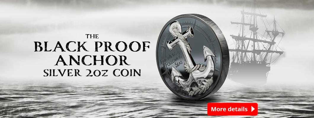 The Black Proof Anchor Silver 2oz Coin