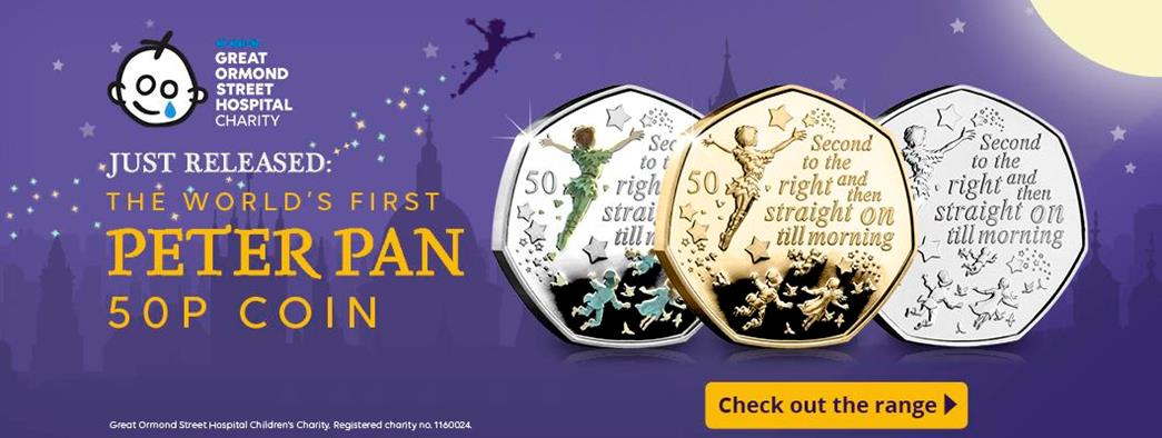 The World's First Peter Pan 50p Has arrived