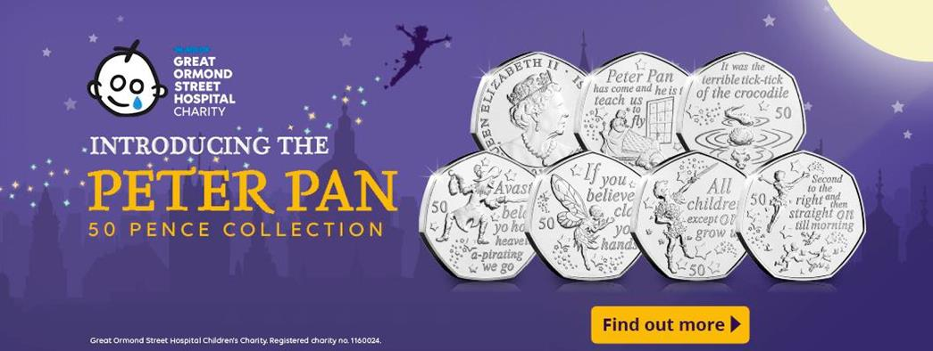 Introducing the Peter Pan 50p Collection