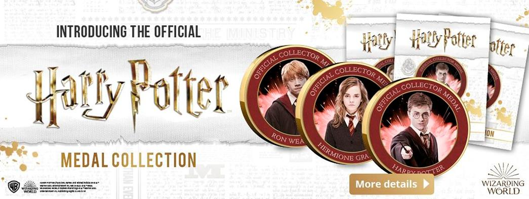 Introducing the New Official Harry Potter Medals Collection