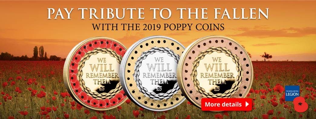 These brand new coins have been issued for 2019 in support of The Royal British Legion