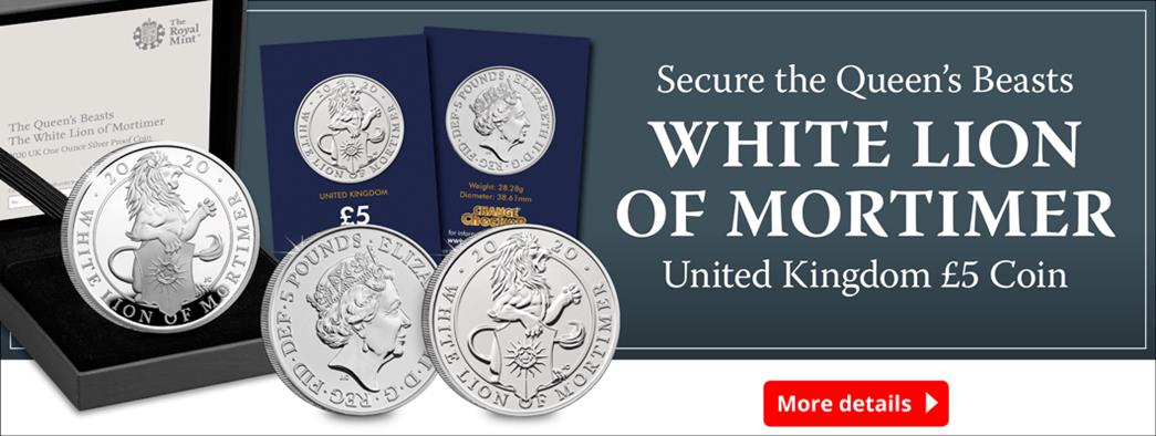 Introducing the Queen's Beasts White Lion of Mortimer £5 Coin