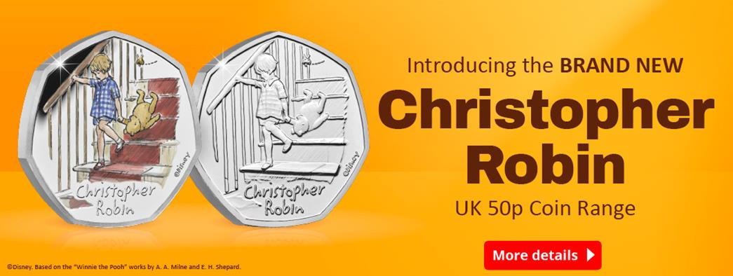 The brand new Christopher Robin 50p is available now!