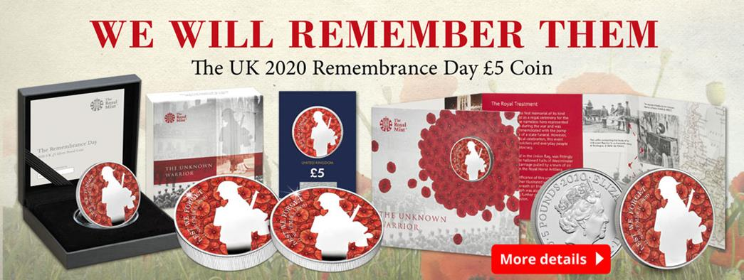 The brand new UK 2020 Remembrance £5 coin has just been released!