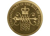Issued in 1989 to commemorate the 300th anniversary of the Bill of Rights. This is an older, nickel-brass £2 which is no longer in circulation.