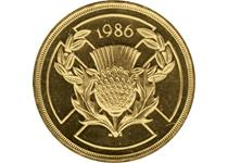 Issued to celebrate the 1986 Commonwealth Games in Edinburgh. Reverse design features a thistle over the cross of St Andrew. This is an older nickel-brass £2 which is no longer in circulation.