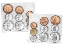 This is a rare opportunity to own the very first coins of Her Majesty's reign - The 1953 BU Coin Set.