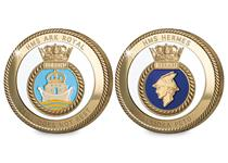 Your enclosed delivery today includes the Royal Navy Ships HMS Ark Royal and HMS Hermes. These 24ct Gold Plated commemorative medals are officially licensed with the Royal Navy.