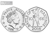 To commemorate the 950th anniversary of the Battle of Hastings, a 50p coin has been issued.