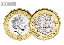 This significant commemorative Nations of the Crown £1 coin marks the release of the brand new 12-sided £1 coin in the UK.