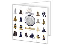 The Christmas Tree 2017 £5 Coin features an engraving of a traditional Christmas tree and is presented in a beautiful Change Checker Christmas Card with envelope.
