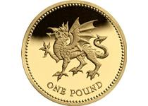 Issued in 1995 and 2000, this uncirculated £1 coin is part of the floral emblem series of £1 coins. Featuring a dragon rampant, this coin represents Wales.