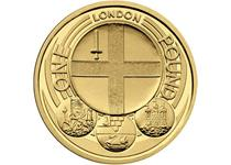 Issued in 2010 as part of the £1 City series. The reverse design features the Coat of Arms of the city of London.