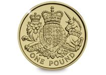 The Royal Arms design for 2015 by Timothy Noad features a contemporary version of the traditional Royal Coat of Arms. These coins are not due to enter circulation until December 2015. Uncirculated