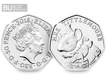 This 50p features the Emma Noble design of Mrs Tittlemouse, issued by The Royal Mint in 2018. This 50p has been protectively encapsulated and certified as superior Brilliant Uncirculated quality.
