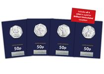 This complete set of 2017 Beatrix Potter 50p coins have been protectively encapsulated and Certified as superior Brilliant Uncirculated quality and presented in a customised collector page.