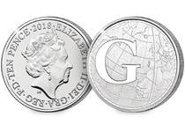 This 10p coin has been issued by The Royal Mint to celebrate Great Britain. It features the letter 'G' - Greenwich Meantime. This 10p has been Certified as an Early Strike UK uncirculated 10p coin.