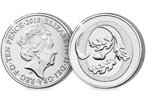 This 10p coin has been issued by The Royal Mint to celebrate Great Britain. It features the letter 'O' and represents the English Oak Tree. This 10p is as an Early Strike UK uncirculated 10p coin.