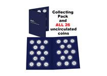 The 2018 UK Complete 10p Set includes all of the A-Z 10p coins issued by The Royal Mint in 2018.