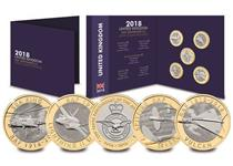 The Change Checker 2018 RAF £2 Coin Collecting Pack includes all five RAF £2 coins in Brilliant Uncirculated quality. The coins have been issued by The Royal Mint to mark the centenary of the RAF.