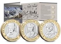 2019 marks the 75th anniversary year of the Normandy Landings which took place on 6th June 1944, known as D-Day. This £2 coin features a portrait of an important figure during D-Day Winston Churchill.