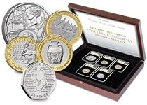 UK 2019 Specimen Set Date Stamp contains 5 new BU coins issued by the Royal Mint for 2019. Each coin is in tamperproof capsule and postmarked with date 01/01/2019 by Royal Mail. Edition limit: 995