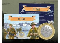 The '75th Anniversary of D-Day £2 Collector Card' is an exciting way to collect the BRAND NEW 2019 75th Anniversary of D-Day £2 coin from The Royal Mint.