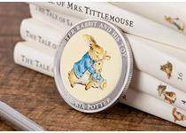 The perfect gift for a christening, birthday, or the arrival of a new baby. Plated in Sterling silver, featuring a full colour image of Peter Rabbit cuddling his favourite toy. Edition limit of 9,995.