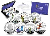 The Official Peter Pan Silver Proof 50p Set