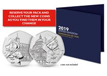 The 2019 Paddington™ Bear 50p Collecting Pack has space to fit two Paddington™ Bear 50p coins as they are found in your change and it includes the specifications for each coin.